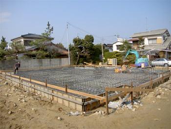 基礎工事の様子
